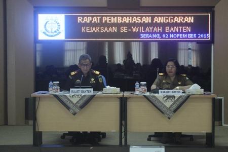 Pembahasan Anggaran Kejaksaan Se-wilayah Banten